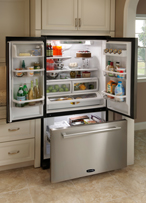 AGA PRO Plus APRO36FDBLK 19.8 cu. ft. Counter-Depth Refrigerator with Glass Shelves & Humidity Controlled Drawers