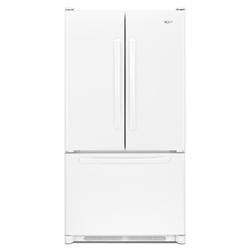 Amana AFD2535DEW 25.0 cu. ft. Refrigerator with Adjustable Door Bins, Internal Water Dispenser and Ice Maker