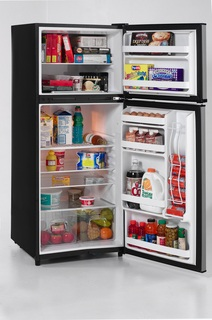 Avanti FF999PS 9.9 cu. ft. Refrigerator with Adjustable Glass Shelves & Beverage Can Dispenser