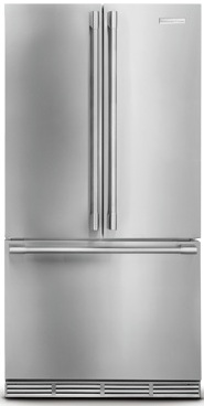 Electrolux ICON Professional E23BC68JPS 22.6 cu. ft. Counter-Depth French Door Refrigerator, 4 Custom-Design Glass Shelves, 2 Smooth-Glide Crispers, Custom Temp Drawer, PureAdvantage Filtration