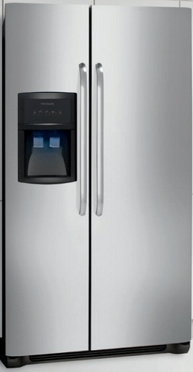 Frigidaire FFHS2313LS 22.6 cu. ft. Side By Side Refrigerator, 3 Glass SpillSafe Shelves, Ready-Select Controls, PureSource 3 Water Filtration, Energy Saver Plus, Control Lock Option