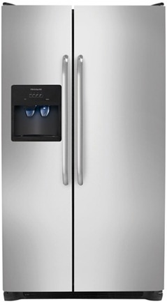 Frigidaire FFHS2612LS 26 cu. ft. Side By Side Refrigerator, 3 Glass SpillSafe Shelves, Ready-Select Controls, PureSource 3 Water Filtration, Energy Saver Plus, Control Lock Option