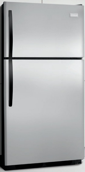Frigidaire FFHT1513LS 14.8 cu. ft. Top Freezer Refrigerator, 2 Sliding Wire Shelves, Store-More Gallon Door Bins, Full-Width Freezer Rack, Ready-Select Controls