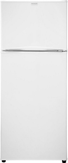 Frigidaire FFPT12F3MW 12.0 cu. ft. Apartment Top-Freezer Refrigerator, Adjustable Glass Shelves, Clear Door Bins, Clear Crisper Drawers, Can Dispenser, Right Hinge Door