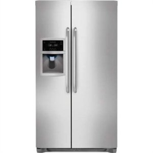 Frigidaire FFSC2323LS 22.6 cu ft Counter Depth Side by Side Refrigerator, Store More System, Water Filtration, External Dispenser, Stainless Steel