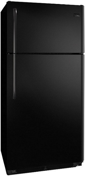 Frigidaire FFTR1814LB 18.2 cu. ft. Top Freezer Refrigerator, 2 SpaceWise Adjustable Wire Shelves, 2 Humidity Controlled Crispers, Clear Dairy Door, Ready-Select Controls