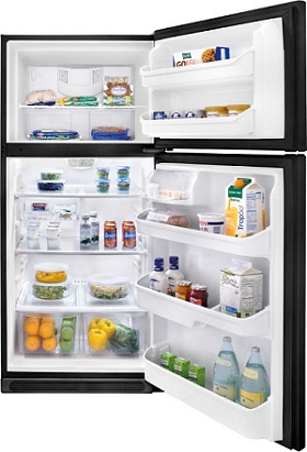 Frigidaire FFTR2126LB 20.6 cu. ft. Top-Freezer Refrigerator, SpillSafe Adjustable Glass Shelves, Full-Width Door Bins, Humidity-Controlled Drawers