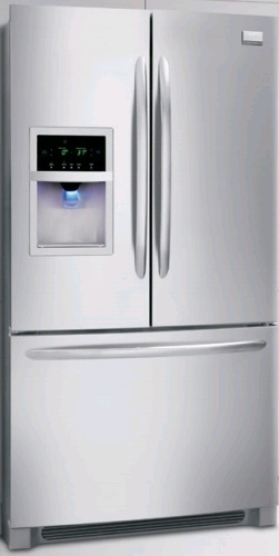 Frigidaire Gallery FGHB2844LF 27.8 cu. ft. French Door Refrigerator, Full-Width Humidity Crispers, External Ice/Water Dispenser, Self-Closing Freezer Drawer, Stainless Steel