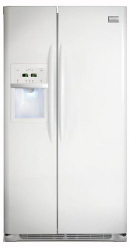 Frigidaire Gallery FGHS2355K 22.6 cu. ft. Side by Side Refrigerator, 3 Sliding SpillSafe Glass Shelves, Humidity-Controlled Drawers, External Ice/Water Dispenser, Express-Select Controls