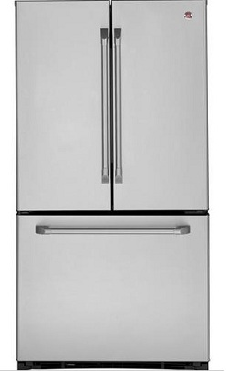 GE CFCP1NIZSS Cafe 20.8 cu. ft. Counter Depth French Door Refrigerator, ClimateKeeper System, Internal Water Dispenser, Ice Maker, Stainless Steel