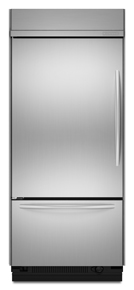 KitchenAid KBLC36FTS Architect Built-In Bottom Freezer Refrigerator, Stainless, Left