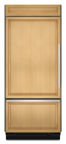 KitchenAid KBLO36FTX Architect Built-In Bottom Freezer Refrigerator, Panel, Left