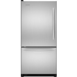 KitchenAid Architect II KBLS20EVMS 19.9 cu. ft. Counter Depth Bottom Freezer Refrigerator, FreshChill Temperature System, Humidity-Controlled Crispers, Internal Water Dispenser & Ice Maker, Monochromatic Stainless Steel