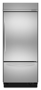 KitchenAid KBRC36FTS Architect Built-In Bottom Freezer Refrigerator, Stainless, Right