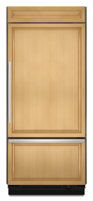 KitchenAid KBRO36FTX Architect Built-In Bottom Freezer Refrigerator, Panel, Right