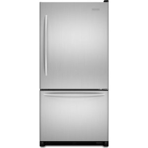 KitchenAid Architect II KBRS22KWMS 21.9 cu. ft. Bottom-Freezer Refrigerator, SpillClean Glass Shelves, FreshSeal Humidity-Controlled Crispers, Max Cool, Digital Controls, Monochromatic Stainless Steel, Right Hand Door Swing