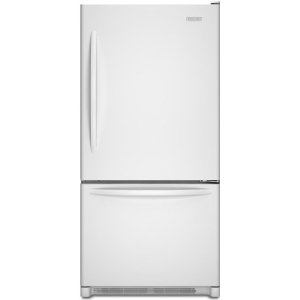 KitchenAid Architect II KBRS22KWWH 21.9 cu. ft. Bottom-Freezer Refrigerator, SpillClean Glass Shelves, FreshSeal Humidity-Controlled Crispers, Max Cool, Digital Controls, White