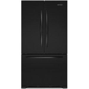 Kitchenaid Kfcs22evbl Architect 21 8 Cu Ft Counter Depth French Door Refrigerator Black