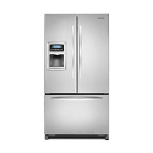 KitchenAid KFIS20XVMS Architect Series II 19.9 cu ft Counter Depth French Door Refrigerator, External Ice and Water Dispenser, Stainless Steel