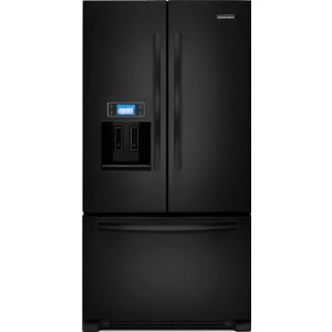 KitchenAid Architect II KFIS27CXBL 26.6 cu. ft. French Door Refrigerator, In-Door-Ice, External Ice & Water Dispenser, Color LCD Touch Display and Photo Uploading, Black
