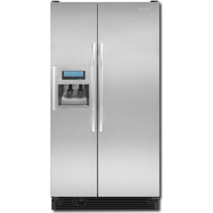 Kitchenaid architect ii ksck25fvss 24 5 cu ft counter depth side by side refrigerator stainless - Kitchenaid architect counter depth refrigerator ...
