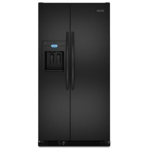 KitchenAid Architect II KSCS23FVBL 23.1 cu. ft. Counter-Depth Side by Side Refrigerator, ExtendFresh System, External Ice/Water Dispenser, In-Door-Ice, Wine/Can Rack, LCD Digital Controls, Black