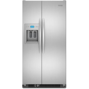 KitchenAid Architect II KSCS23FVMK 23.1 cu. ft. Counter-Depth Side by Side Refrigerator, ExtendFresh System, External Ice/Water Dispenser, In-Door-Ice, Wine/Can Rack, LCD Digital Controls, Monochromatic Stainless Cabinet