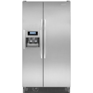 KitchenAid Architect II KSRG25FVMS 25.3 cu. ft. Side by Side Refrigerator, Humidity Controlled Crisper, External Ice/Water Dispenser, In-Door-Ice, FreshChill Temperature Management, Monochromatic Stainless Steel