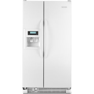 kitchenaid refrigerator side by side. kitchenaid architect ii ksrg25fvwh 25.3 cu. ft. side by refrigerator, humidity controlled kitchenaid refrigerator n
