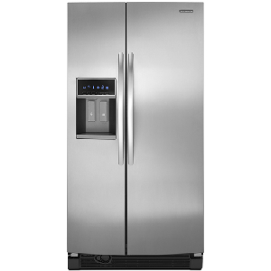 kitchenaid architect ii ksrj25fxms 25 6 cu ft side by side