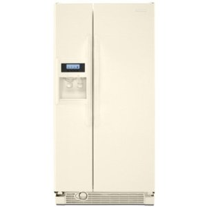 KitchenAid Architect II KSRV22FVBT 21.6 cu. ft. Side by Side Refrigerator, Humidity-Controlled Crisper, External Ice/Water Dispenser, In-Door-Ice, ExtendFresh Temperature Management, Bisque