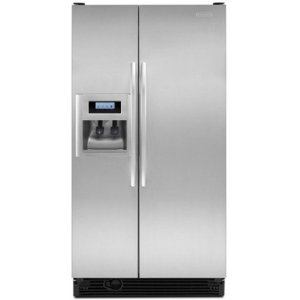 KitchenAid Architect II KSRV22FVSS 21.6 cu. ft. Side by Side Refrigerator, Humidity-Controlled Crisper, External Ice/Water Dispenser, In-Door-Ice, ExtendFresh Temperature Management, Stainless Steel