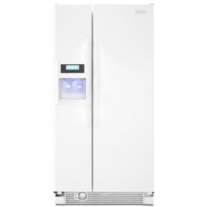 KitchenAid Architect II KSRV22FVWH 21.6 cu. ft. Side by Side Refrigerator, Humidity-Controlled Crisper, External Ice/Water Dispenser, In-Door-Ice, ExtendFresh Temperature Management, White