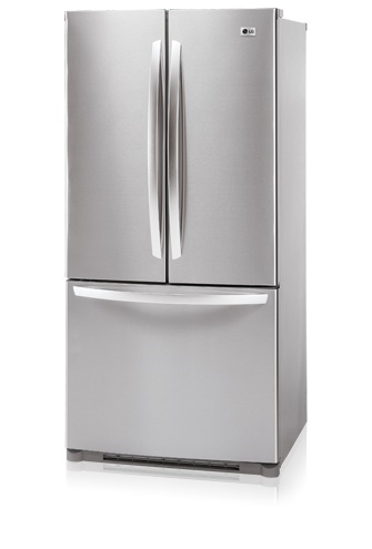 LG LFC23760ST 22.6 cu. ft. French Door Refrigerator, Glass Shelves, Ice Maker, IcePlus, Digital LED Controls, Stainless Steel
