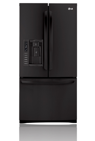 LG LFX25978SB 24.9 cu. ft. French Door Refrigerator with 4 Tempered Glass Shelves, 2 Humidity Crispers, Slim SpacePlus Ice System, Tall Ice/Water Dispensing System and Premium LED Interior Light: Smooth Black