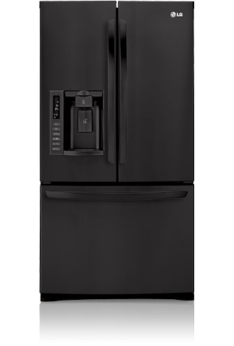 LG LFX28978SB 27.6 cu. ft. French Door Refrigerator with 4 Split Glass Shelves, Glide N' Serve Drawer, IcePlus, External Ice/Water Dispenser and Linear Compressor, Smooth Black