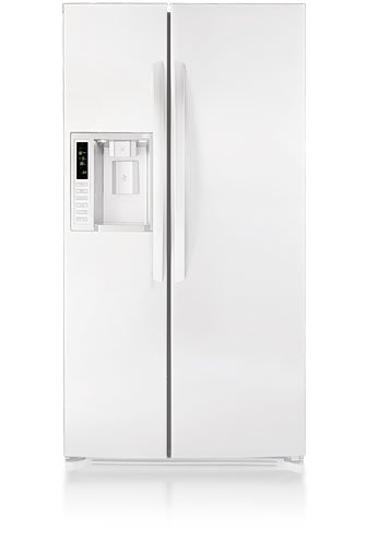 LG LSC27921SW 26.5 cu. ft. Side by Side Refrigerator, 3 Spill Protector Glass Shelves, 2 Humidity Controlled Crispers, External Ice/Water Dispenser, LED Display, Digital Controls, Smooth White