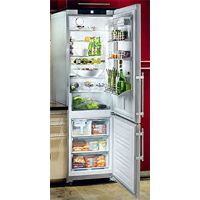 Liebherr CS1310 13 cu. ft. Freestanding Counter-Depth Bottom-Freezer Refrigerator, 4 Glass Shelves, 3 Freezer Drawers, LED Lighting, Digital Temperature Display: Right Hand Door Swing