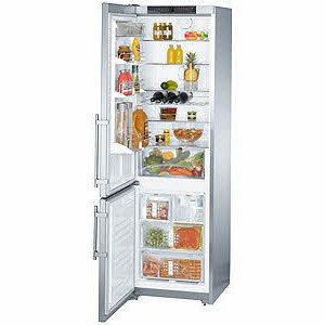 Liebherr CS1361 13 cu. ft. Freestanding Counter-Depth Bottom-Freezer Refrigerator, 4 Glass Shelves, 3 Freezer Drawers, Factory Installed Ice Maker, LED Lighting, Digital Temperature Display, Left Hand Door Swing