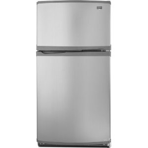 Maytag M0RXEMMWM 19.7 cu. ft. Top-Freezer Refrigerator, Factory Installed Automatic Ice Maker, Adjustable Glass Shelves, Gallon Door Bins, ADA Compliant