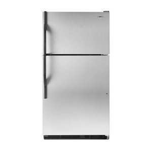 Maytag M1TXEMMWS 20.9 cu. ft. Top-Freezer Refrigerator, Factory Installed Automatic Ice Maker, Adjustable Glass Shelves, 2 FreshLock Crispers with Humidity Control, ADA Compliant: Stainless Steel