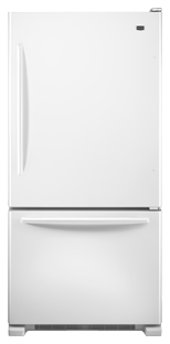 Maytag EcoConserve MBF1958XEW 18.5 cu. ft. Bottom-Freezer Refrigerator, 5 Spill-Catcher Glass Shelves, Gallon Door Storage, Glide-Out Freezer Drawer, Energy Star Qualified, Factory-Installed Icemaker