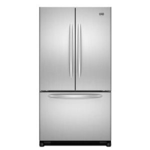 Maytag MFD2562VEA 24.8 cu. ft. French Door Refrigerator, 2 EasyGlide Spill-Catcher Glass Shelves, Electronic Triple-Cool System, Internal Water Dispenser, Accelerated Ice Production