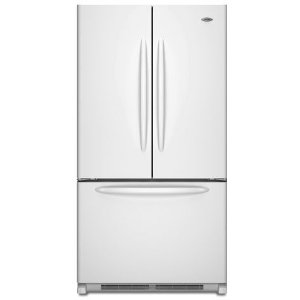Maytag MFD2562VEW 24.8 cu. ft. French Door Refrigerator, 2 EasyGlide Spill-Catcher Glass Shelves, Electronic Triple-Cool System, Internal Water Dispenser, Accelerated Ice Production