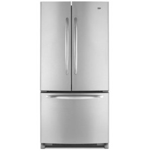 Maytag MFF2258VEA 22.0 cu. ft. French Door Refrigerator, Adjustable Spill-Catcher Glass Shelves, Pick-Off Gallon-Plus Door Bins, Automatic Moisture Control, Electronic Dual Cool System