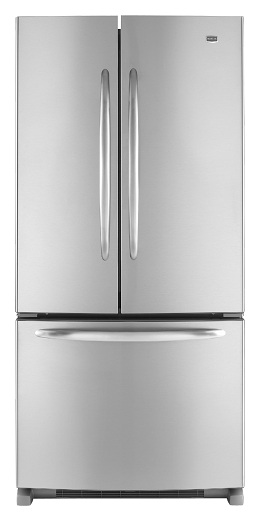 Maytag MFF2258VEM 22.0 cu. ft. French Door Refrigerator, Adjustable Spill-Catcher Glass Shelves, Pick-Off Gallon-Plus Door Bins, Automatic Moisture Control, Electronic Dual Cool System