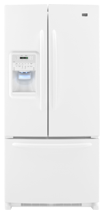 Maytag Ice2O MFI2269VEW 22.0 cu. ft. French-Door Refrigerator, Adjustable Spill-Catcher Glass Shelves, Beverage Chiller Compartment, Humidity-Controlled Crispers, External Ice/Water Dispenser, Exterior Electronic Controls