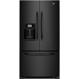 Maytag Ice2O MFT2771WEB 27 cu. ft. French Door Refrigerator, Adjustable Glass Shelves, Extra-Deep Gallon Door Storage, LED Interior Lighting, Touchscreen LCD Display, Store-N-Door Ice Dispensing System