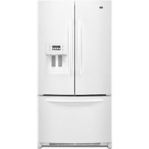 Maytag Ice2O MFT2771WEW 27 cu. ft. French Door Refrigerator, Adjustable Glass Shelves, Extra-Deep Gallon Door Storage, LED Interior Lighting, Touchscreen LCD Display, Store-N-Door Ice Dispensing System