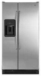 Maytag MSD2573VES 25.2 cu. ft. Side by Side Refrigerator, 3 Adjustable Spill-Catcher Glass Shelves, FreshLock Crispers, Backlit Slide Interior Controls, Factory Installed Icemaker, External Ice/Water Dispenser